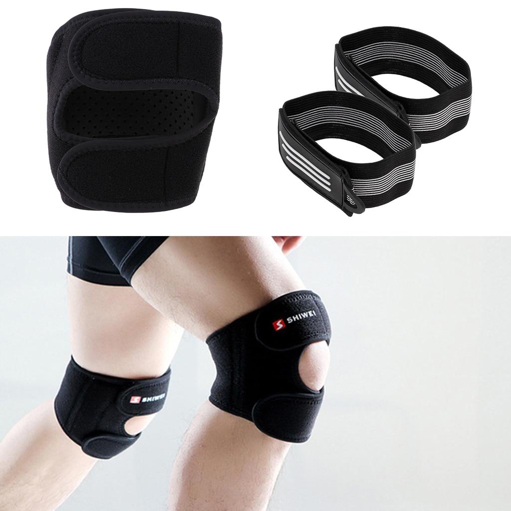 2 uds ciclismo bicicleta reflectante Correa pantalones de gran elasticidad banda de seguridad advertencia con deporte rodillera Protector