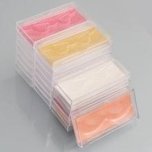 20 pièces en gros faux cils boîte à cils emballage paillettes coulissant transparent en plastique caisse demballage avec porte-plateaux transparent