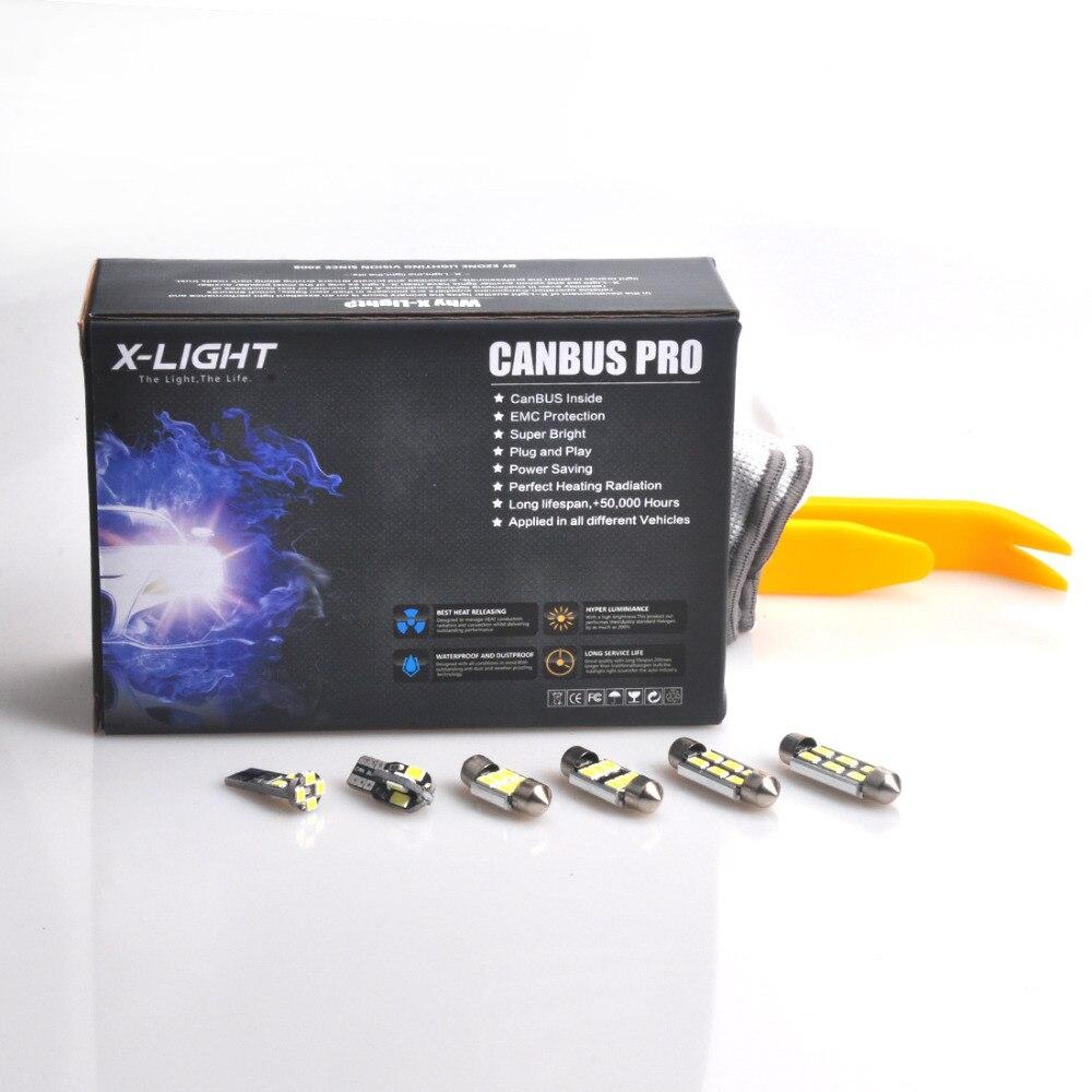 18pc Xenone blanco LED Interior mapa luz para todos en un completo Kit + luz LED de matrícula para Saab 9-7X 2005-2009