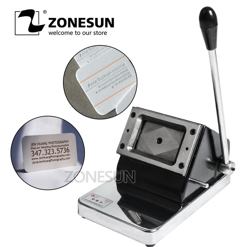 Mini cortadora ZONESUN de tipo pequeño para tarjetas de papel TARJETA DE PVC fotos tarjetas de visita Tarjeta De Nombre troquelador