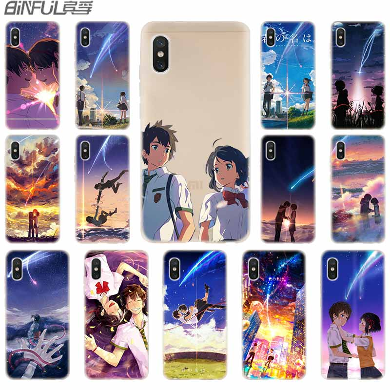 cover soft Silicone TPU Case For Xiaomi Mi 9 8 SE 6X 5X A3 A1 A2 LITE F1 mix 2s max 3 cc9 Pro cc9e Kiminonawa Your Name anime