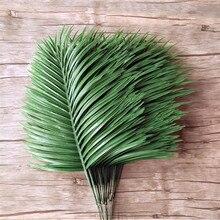 Plantes de Simulation artificielles à feuille unique   20 pièces, feuille de palmier en plastique, verdure pour Arrangement Floral, partie accessoire