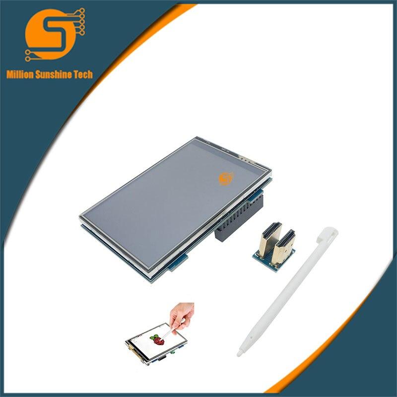 Envío Gratis MPI3508 TFT de 3,5 pulgadas HDMI LCD de modelado para Raspberry Pi 2 Modelo B & B RPI B +, raspberry pi 3