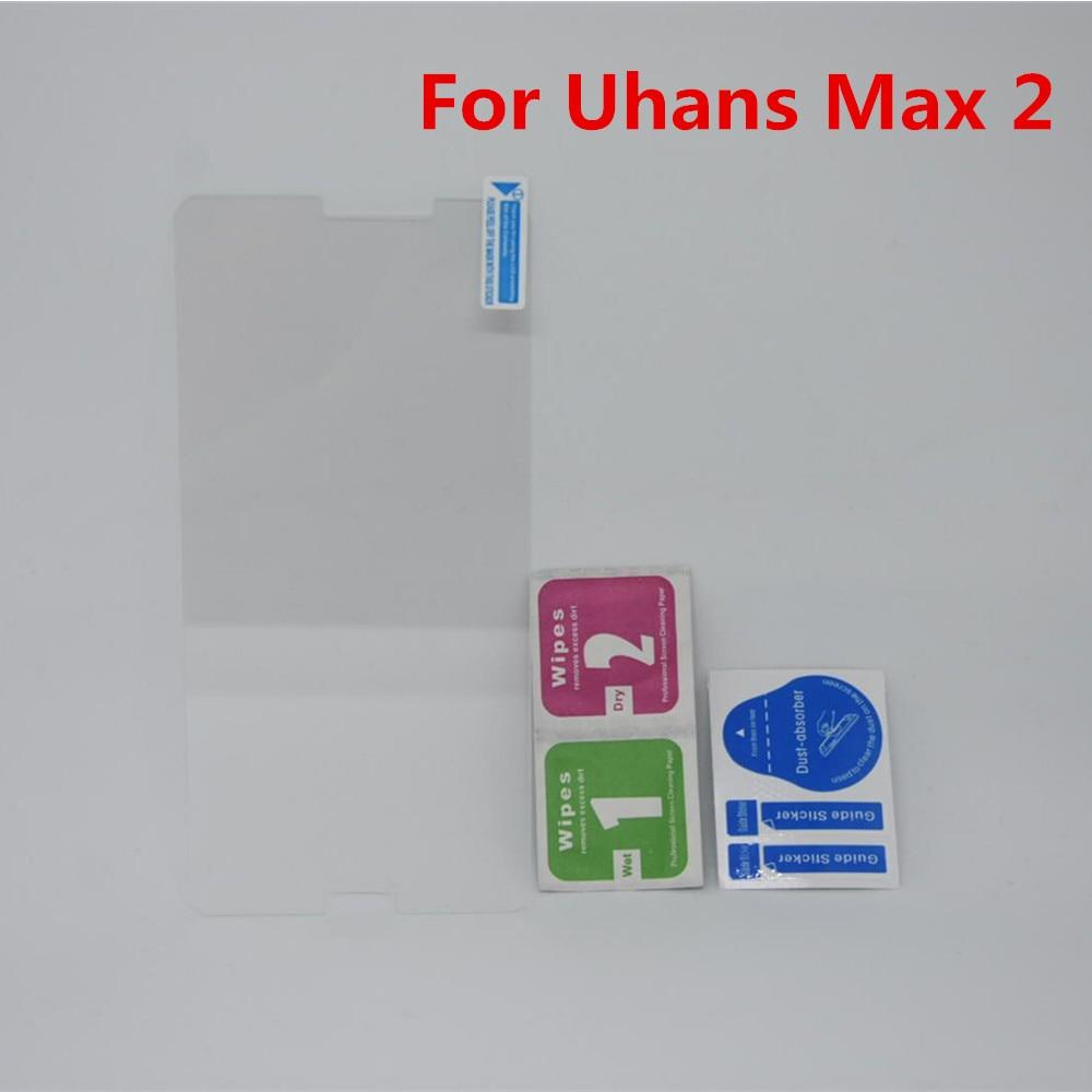Para Uhans Max 2 6,44 pulgadas de alta calidad cobertura de pantalla completa vidrio templado 9H 2.5D HD películas de vidrio Protector de pantalla