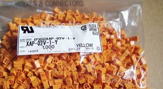 XAP-02V-1-Y العلب الأصفر اللون موصلات محطات إيواء 100% ٪ أجزاء جديدة ومبتكرة