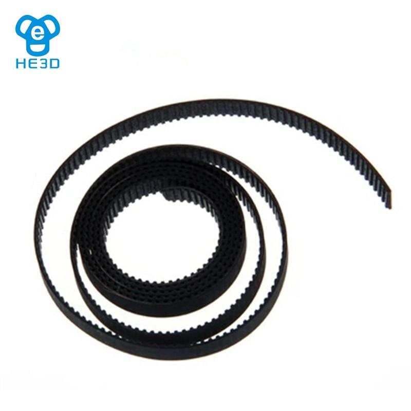 1 Uds HE3D Correa sincrónica GT2 cinta transportadora longitud 1 m ancho 6 mm