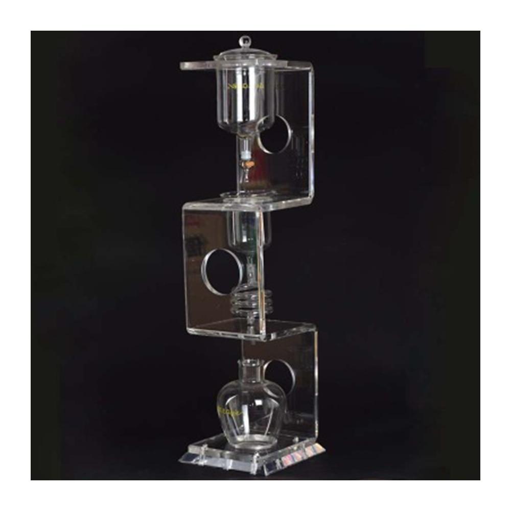 YUEWO 4C-آلة تقطير القهوة المثلجة/آلة تقطير المياه, أدوات تصفية زجاجية قابلة لإعادة الاستخدام لتقطير القهوة ، آلة تحضير القهوة الباردة المثلجة