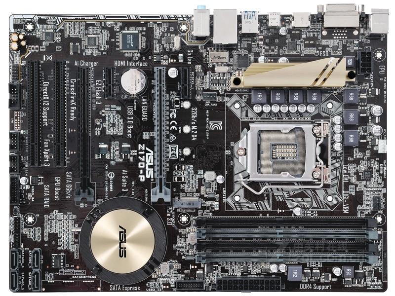 ASUS-placa base original Z170-P LGA 1151 DDR4, 64GB, USB2.0, USB3.0, DVI, HDMI,...