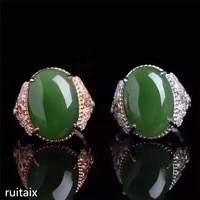kjjeaxcmy fine jewelry 925 pure silver inlay natural jasper female style ring jewelry gemstone simple plant leaves