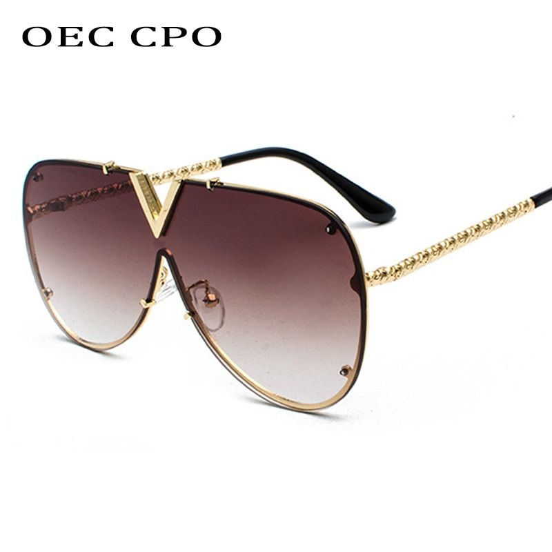 Men's Sunglasses Fashion Oversized Sunglasses Men Brand Designer Goggle Sun Glasses Female Style Ocu