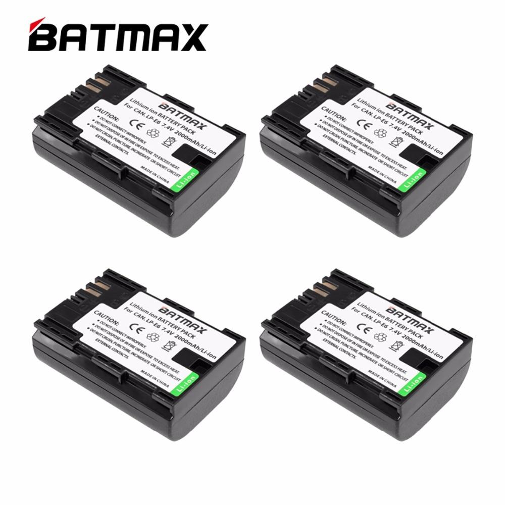 4 unids/lote alta capacidad LP-E6 LP E6 baterías LP E6 batería para...