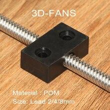 1Pcs T-Type Openbuilds Anti-backlash Nut Block T8 screw 8mm screw lead 2mm 4mm 8mm for 3D Printer