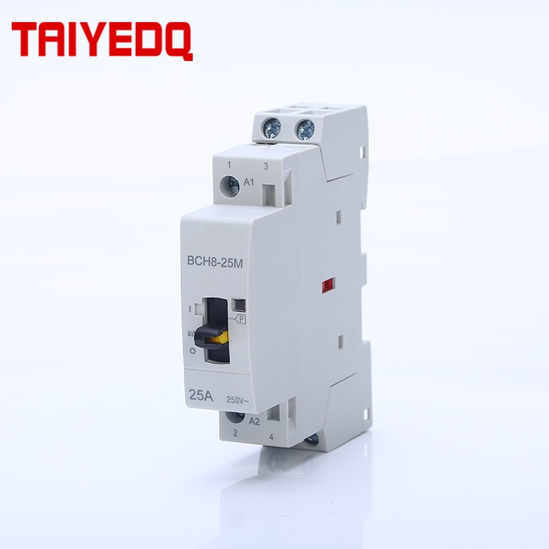 Contactor doméstico 2P 25A AC230V 50/60HZ, contactores de operación Manual