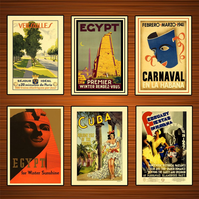 Retro World Travel Posters do Egito Para A Luz Do Sol de Inverno Clássico Adesivos De Parede Pintura Da Lona Poster Vintage Bar Casa Decoração Presente