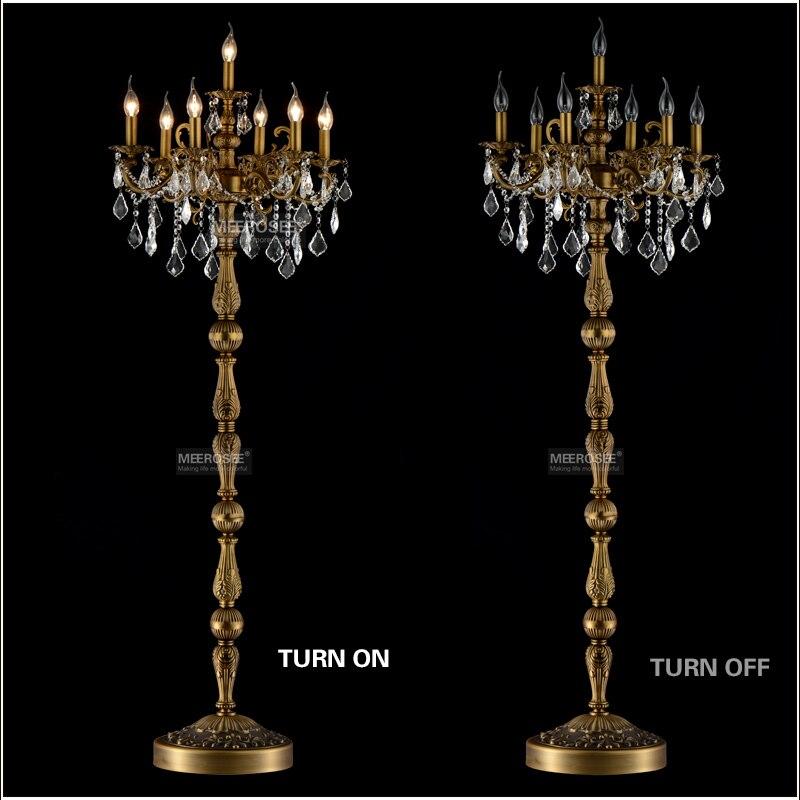 Классический 7 светильник s Хрустальный торшер, напольный стоячий светильник, светильник Cristal Lustre канделябр стоячий светильник