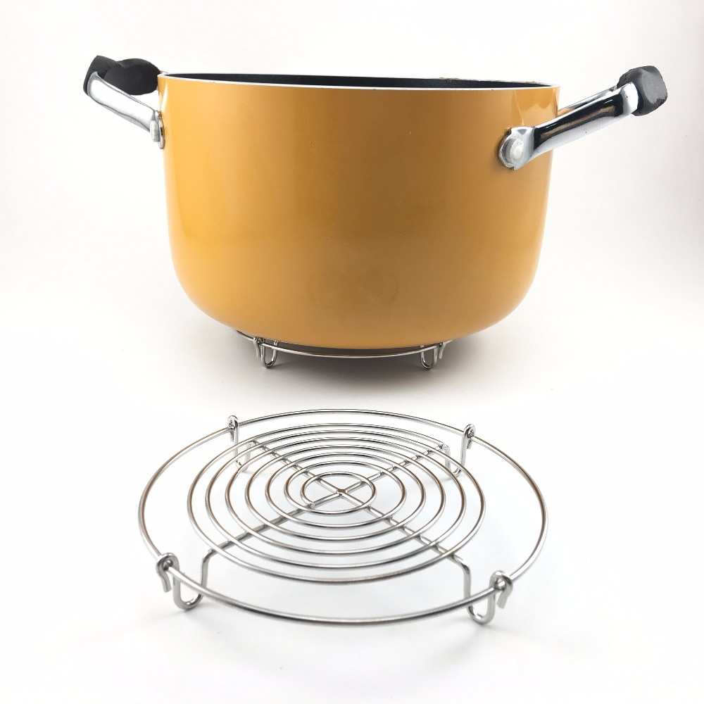 Olla de cocina de acero inoxidable caliente, esterillas Trivet, vaporera con 4 Patas, soporte de olla multifunción para cocina, soporte para Pizza, soporte para enfriar pasteles
