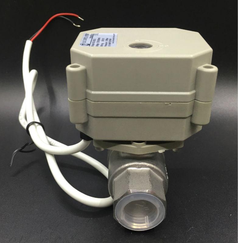 TFM15-S2-C ، جديد 2 طريقة SS304 1/2 ''DN15 النسبي صمام 0-5V ، 0-10V أو 4-20mA DC9V-24V 5 أسلاك للمياه تحوير التحكم