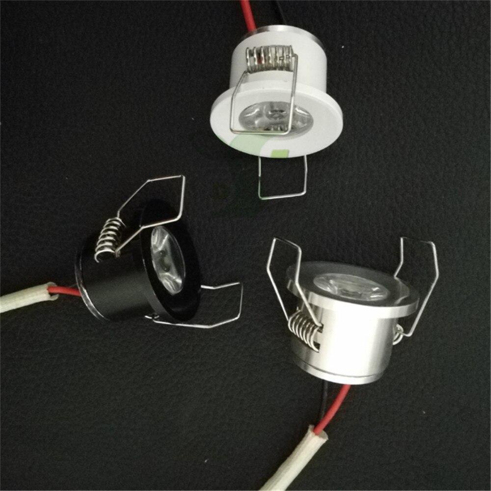 Светодиодный мини-светильник под шкафом Точечный светильник 1 Вт для потолочного встраиваемого светильника AC85-265V с регулируемой яркостью Б...