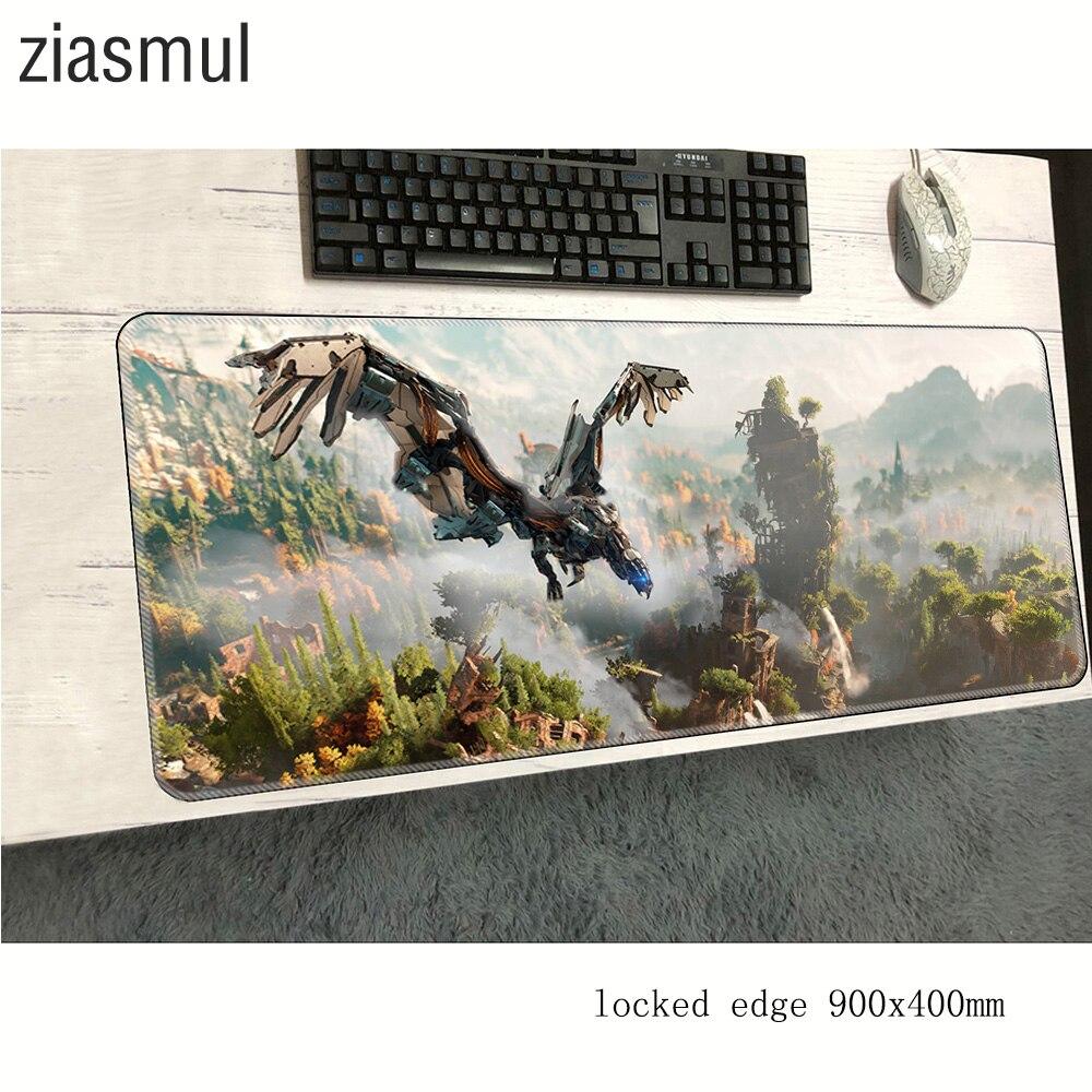Horizon cero amanecer alfombrilla de ratón 900x400x2mm alfombras de diseño en HD alfombrilla de ratón de ordenador Juego Adorable alfombra para ratón teclado juegos de pc gamer