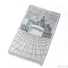 70*110 CM Moslim Gebed Mat voor Reizen Business Rood Blauw Groen Draagbare Gebedskleed Knielen Poly Mat Moslim islam Gebed Tapijt