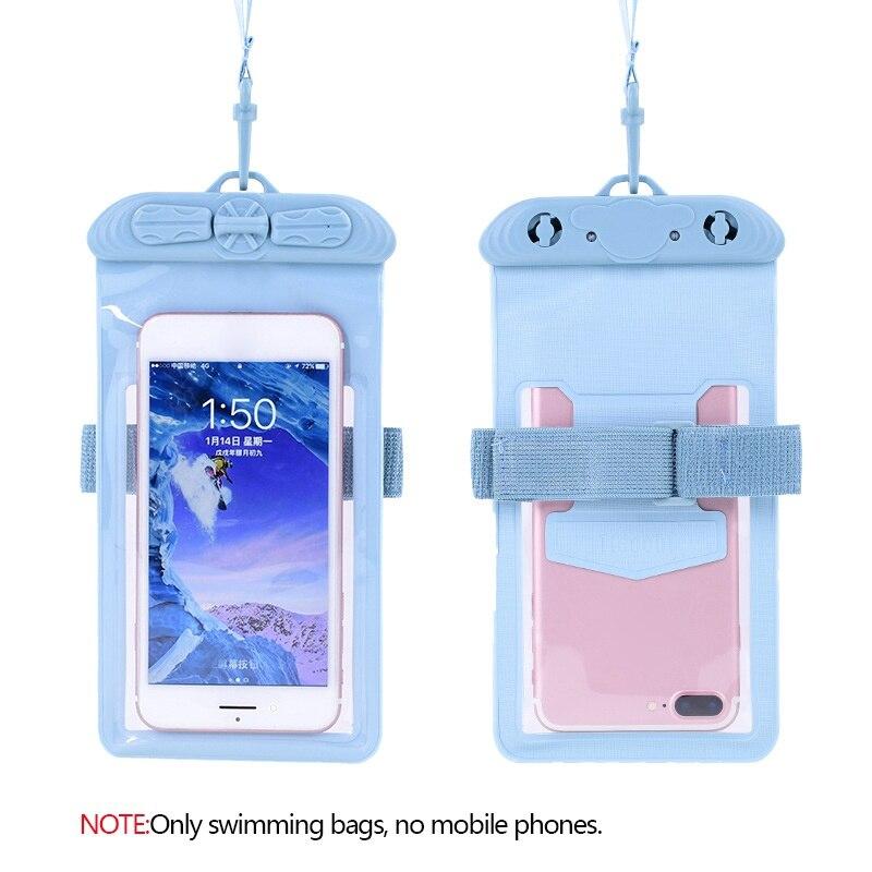 Bolsa impermeable para teléfono móvil con manguitos para nadar, pantalla táctil subacuática para surf, buceo y playa, funda para teléfono móvil