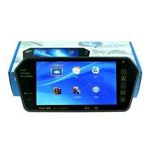 후면보기 카메라 lcd 자동차 미러 모니터에 대 한 새로운 7 인치 블루투스 tf/usb fm transimitter에 대 한 mp5 mp4 역방향 rearview 모니터