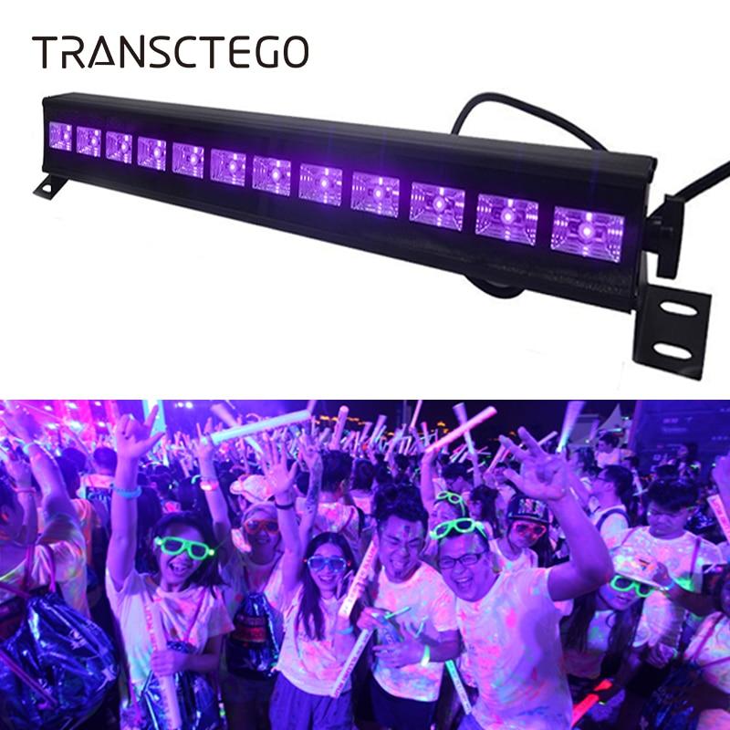 12 LED Дискотека УФ фиолетовый черный свет DJ 36 Вт Par лампа УФ для вечеринки Рождество бар лампа Лазерная сценическая настенная шайба точечный свет подсветка