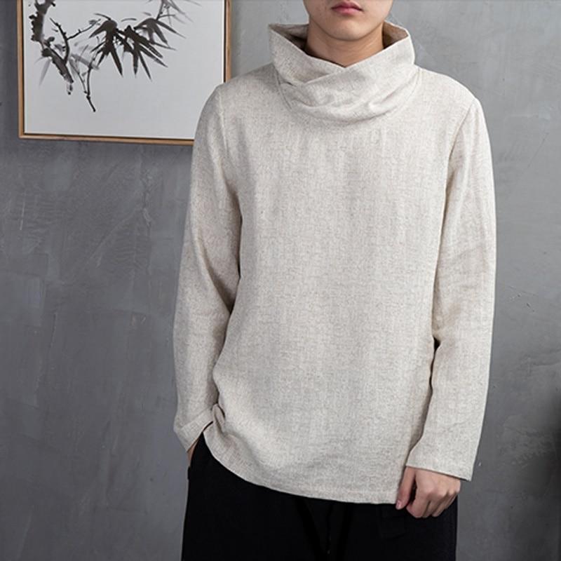 ملابس صينية تقليدية للرجال ، قميص بياقة ماندرين ، بلوزة وشو ، زي الكونغ فو ، الصين ، KK2460