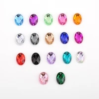 18 color 810mm1014mm1318mm1825mm glitter crysta sew on oval acrylic rhinestone flatback colorfu beads diy wedding dress