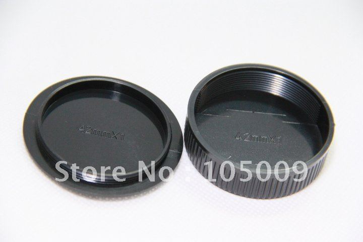 front Rear Lens Cap / Cover+Camera Body Cap for m42 42mm Praktica Zenit Mount