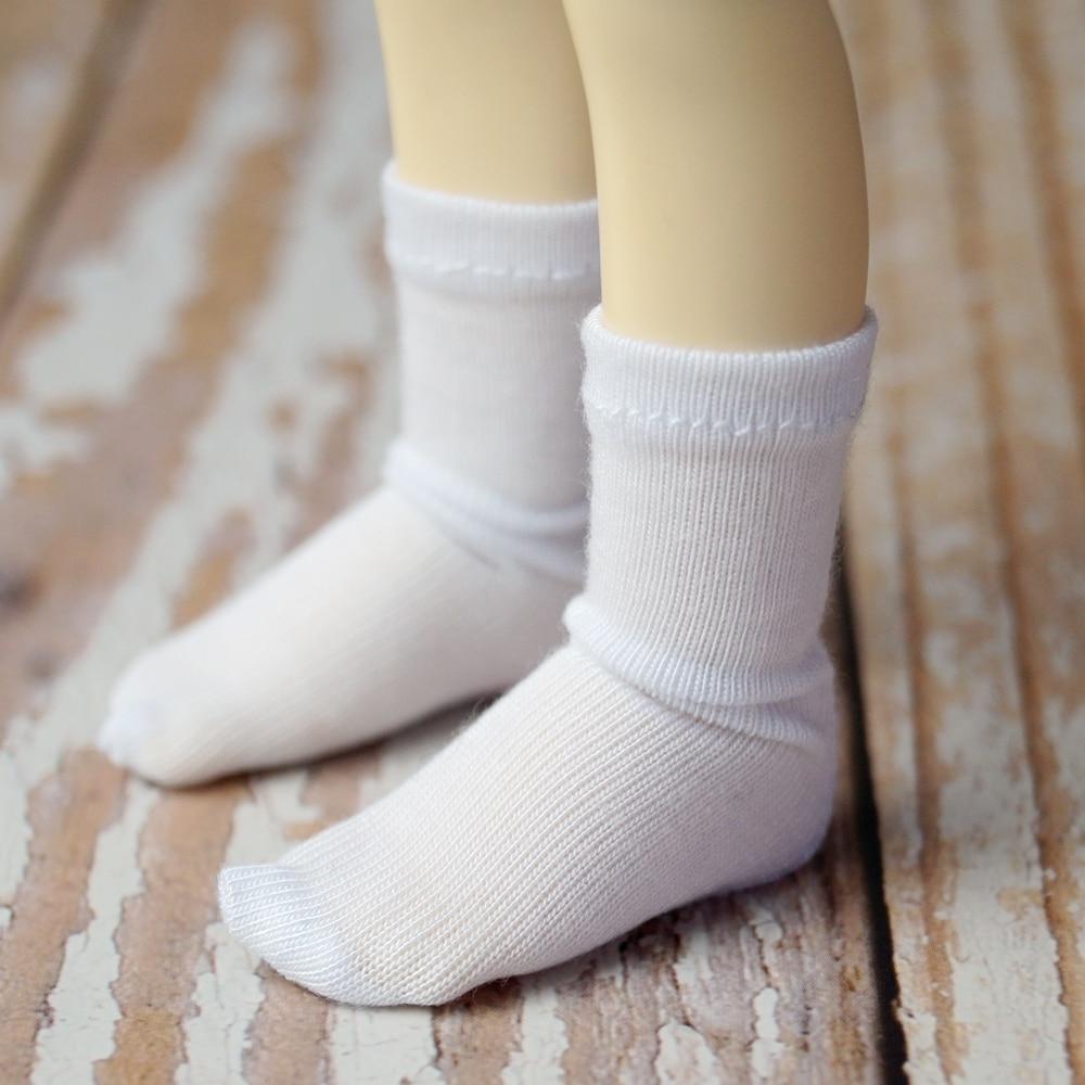 "BJD White Short Socks Protective Socks For 1/3 24"" 60CM 1/4 17"" 44cm 1/6 11"" 70cm sd17 yosd BJD doll  SD MSD DK DZ AOD DD Doll"