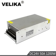 Einzigen Ausgang Schalt Netzteil dc24v 50A 1200W Beleuchtung Fahrer transformator für 3D Drucker CNC CCTV Led Streifen Lampe ligh