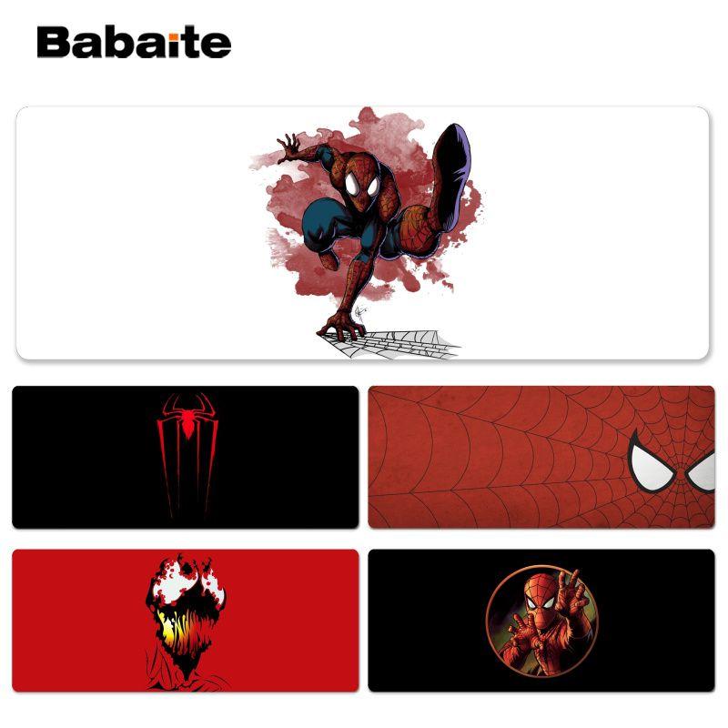 Babaite Spider-Man esteras de juego de jugador locketge Mousepad tamaño para 40x90CM alfombrilla de ratón de ordenador