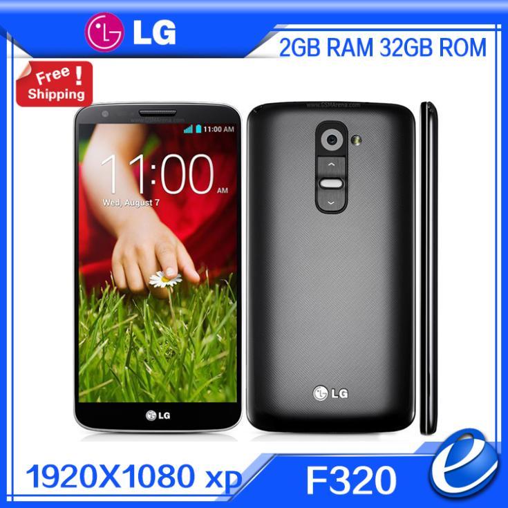 Lg-teléfono inteligente G2 F320 D802 D800, teléfono móvil Original libre versión EU con Quad Core, Android 4,2, cámara de 13,0mp, pantalla IPS de 5,2 pulgadas, 32GB ROM, móvil renovado