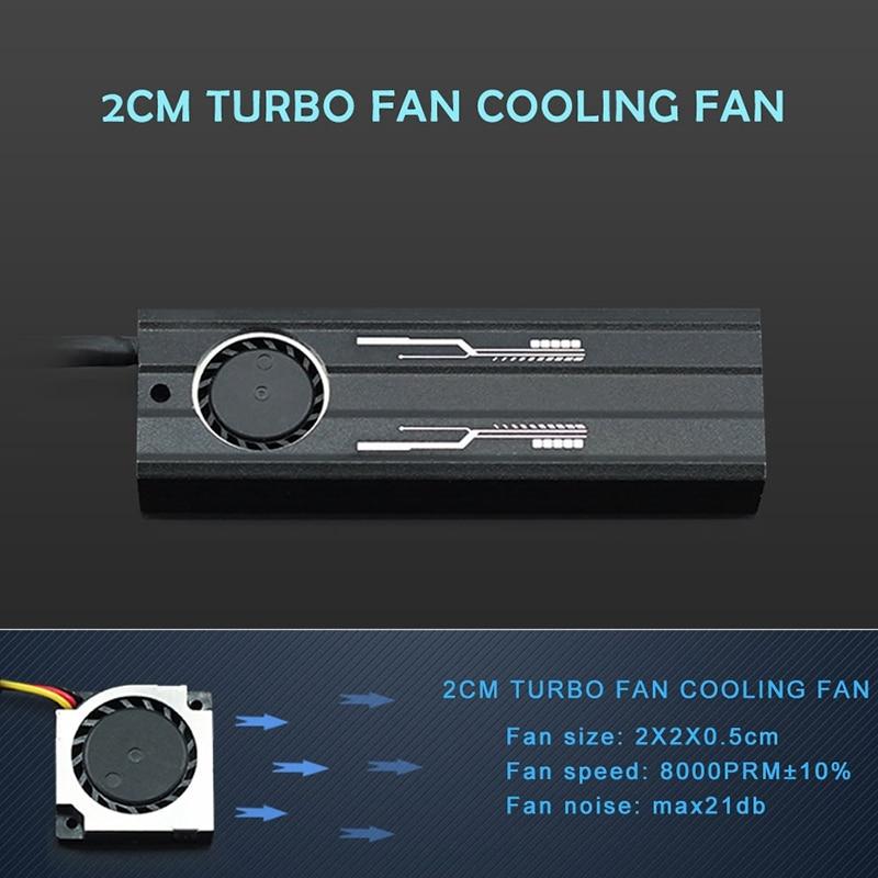 M.2 Heatsink Ssd Aluminum Sheet Thermal Conductivity Silicon Wafer Cooling Fan Heatsink Pcie Nvme Ssd Radiator