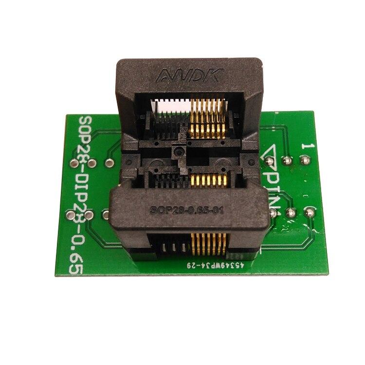 SSOP14 TSSOP14 a DIP14 zócalo de programación paso 0,65mm IC ancho del cuerpo 4,4mm 173mil adaptador de enchufe de prueba programador