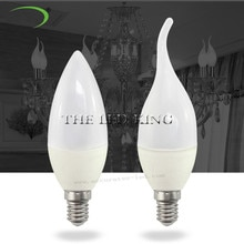 1- 10Pcs LED Candle light E14 SMD 2835 Energy Saving Led Chandelier led bulb lamp plastic shell For Home Decoration