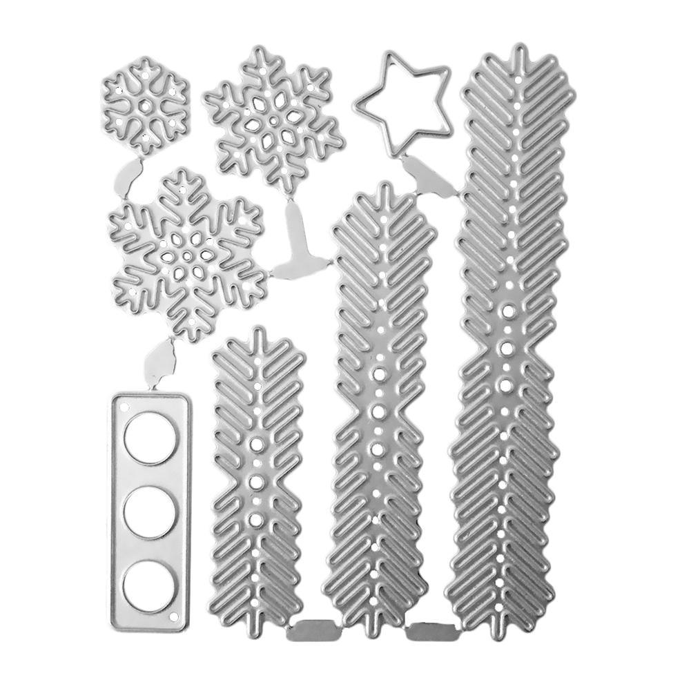 Folhas Da Árvore de natal Corte Embossing Morre Stencils moldes Molde Para DIY Álbum Scrapbooking Papel Cartão Selo
