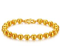 Solide 24K jaune 4mm-9mm or perles Bracelet de mode Alluvial Bracelet en or Bracelet bijoux
