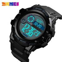 SKMEI Clock Mens Watch Sports Digital 2 TIME Alarm Wristwatches Waterproof LED Quartz Sport Watches Relogios Masculino 2019 New