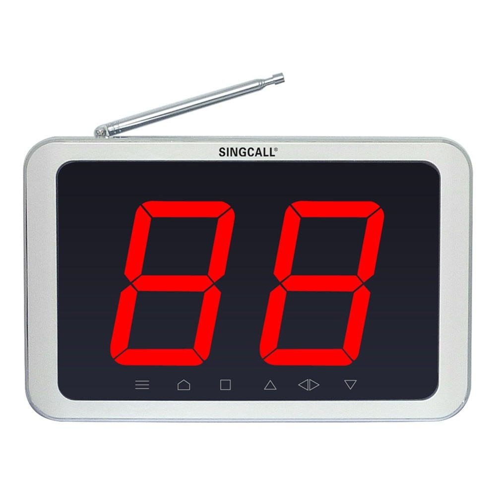 SINGCALL Wireless Paging System,Display Unit for Wireless Keyboard, Call Waiter System for Bank,School,Car shop APE1000 Receiver