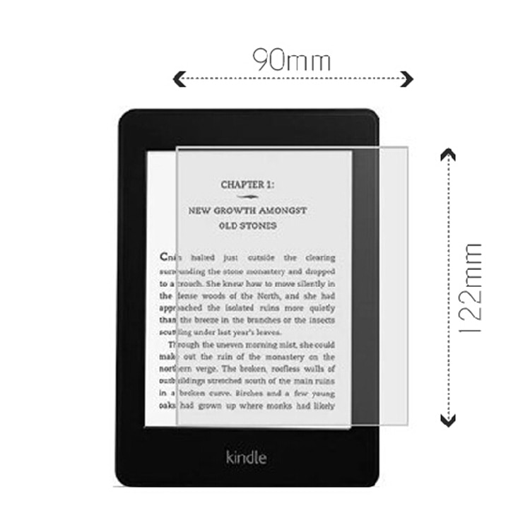 2PCS Tempered Glass Screen Protector for 6 ereader ebook Tagus Nook Kobo Tolino page vision shine Kindle 6 protection