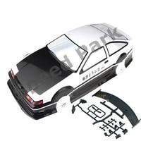 2pcslot ae86 gt apex 110 110 pvc painted body 190mm wheelbase shell 110 rc hobby racing car for hsp hpi tamiya yokomo mst