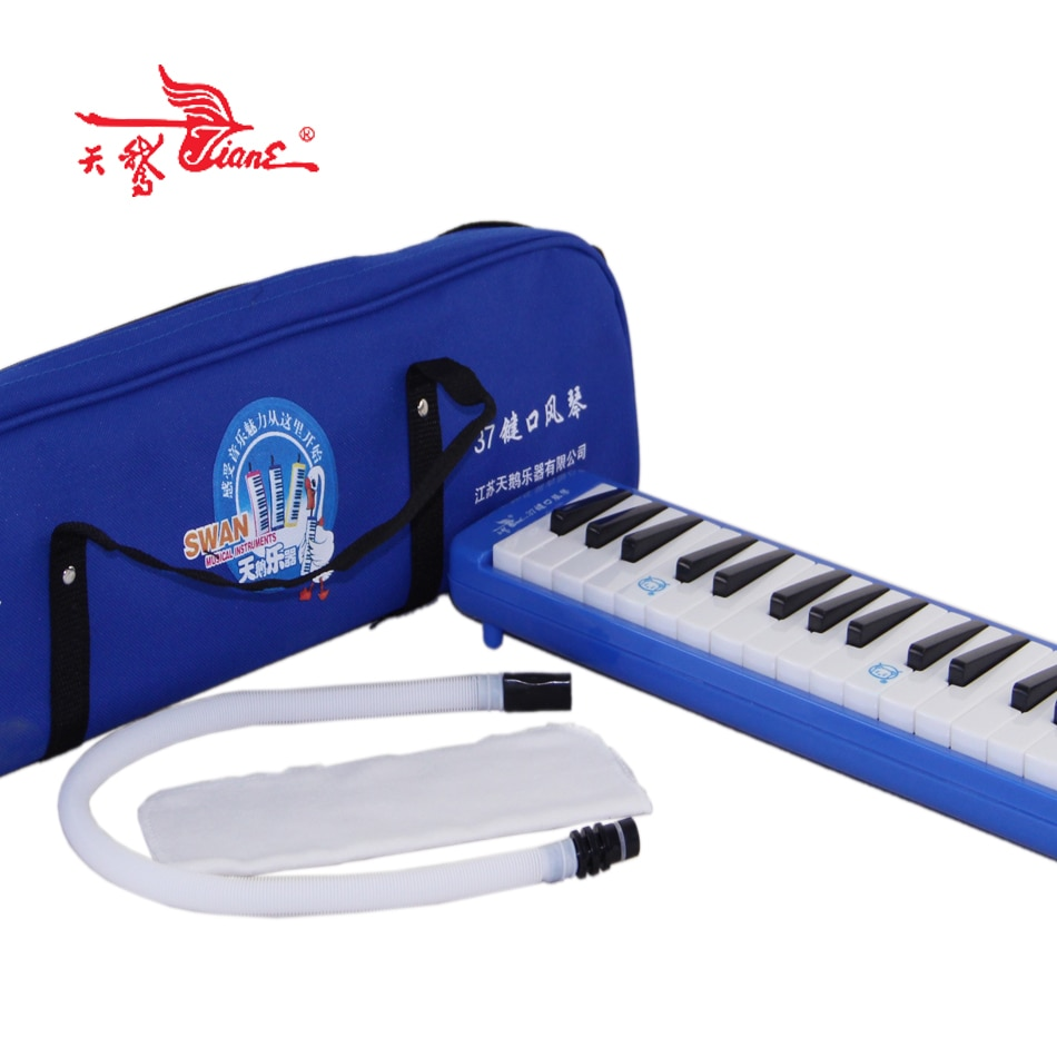 سوان 37 المفاتيح الزرقاء الفم الجهاز 37 مفاتيح حقيبة يد الاطفال المبتدئين الطلاب الموسيقية هدية