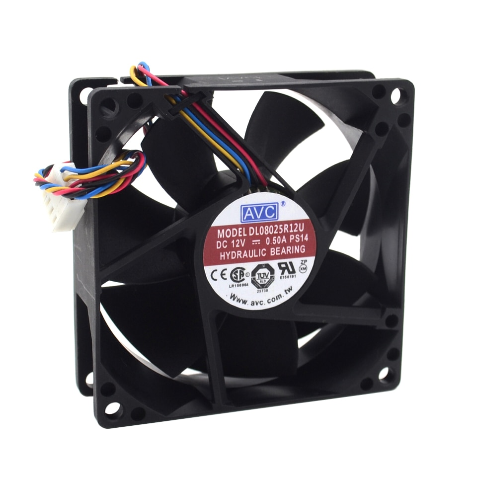 AVC الاصلي 8025 8 سنتيمتر 80 مللي متر الرياح قدرة 12V 0.5A DL08025R12U PWM ذكي التبريد مروحة سرعة التحكم 80*80*25 مللي متر 10 قطعة/الوحدة