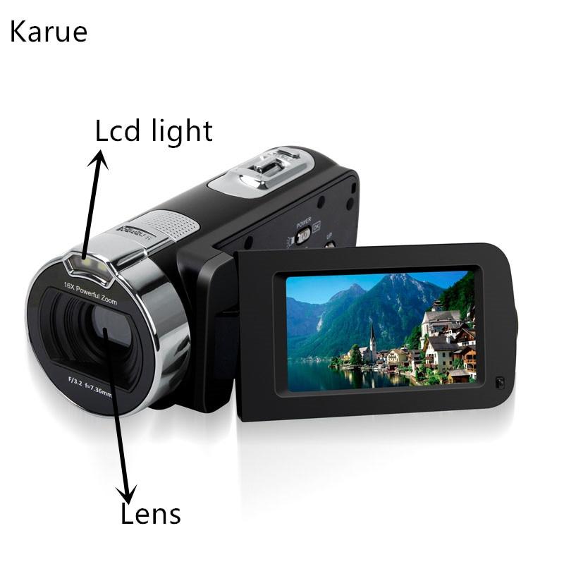 "KaRue HDV-302P Protable 16X Zoom Digital Video Camcorder DVR HD 1080P 2.7 ""Lcd Resolução 24MP Uso Doméstico camcorder"