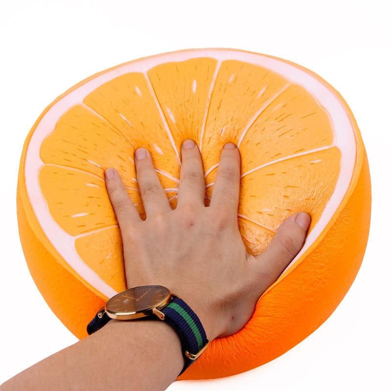25cm super gigante laranja jumbo squishy lento subindo macio squeeze kawaii squishies brinquedos antiestresse natal girt atacado