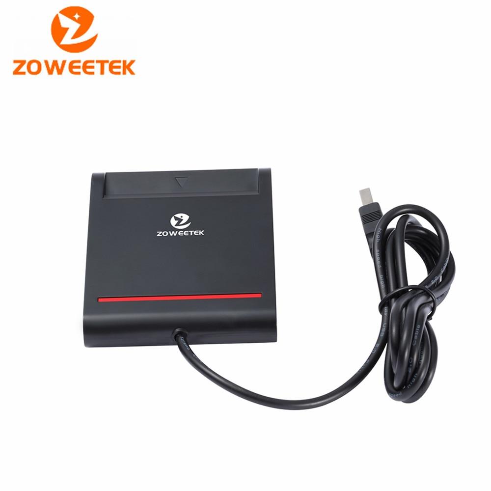 Original Zoweetek 12026-2 Easy Comm USB EMV Smart Card Reader Writer For ISO 7816 EMV Chip Tags + 1pcs Card Reader + 1 Driver CD