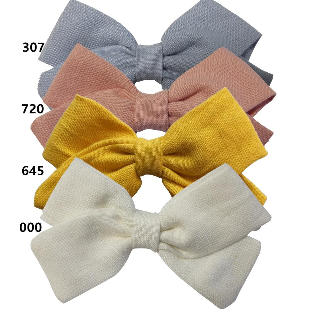 4 PCS Fabric bow Clips Hair bow Hair Clips Hair Barrettes Boutique Cloth Hairbow Hairgrips Baby Girl's Headwear Hair Accessories