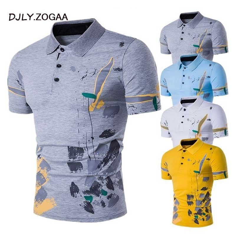 ZOGAA hombres Polo camisa de manga corta Casual de hombre Polos camisas impresión Slim nuevo verano ropa de hombre 2018